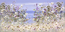 Blooming Sands by Mary Shaw - Original Painting on Board sized 24x12 inches. Available from Whitewall Galleries